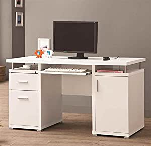 Coaster home furnishings 800108 contemporary computer desk white kitchen dining Home furniture on amazon