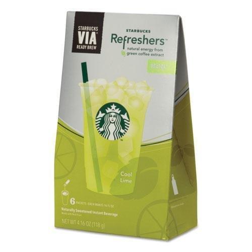 Starbucks Coffee Company Via Refreshers, Cool Lime, 4.16 Oz Pack, 6/Box (11036800)