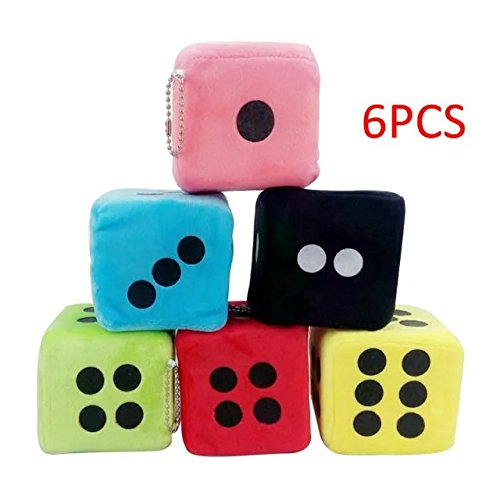 Creative&Cool Plush Toy Dice Velvet Doll Pendant Cartoon Stuffed Plush Hanging Toys Sponge Plush Doll Playing Dice Party Decoration Birthday Wedding Gift for Boys and Girls(6Pcs) (Ants Canada compare prices)