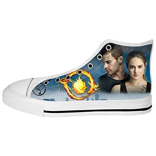 RenBen Non-slip plimsolls Custom Divergent Women High-top Canvas Shoes Footwear Sneakers Flat Shoes