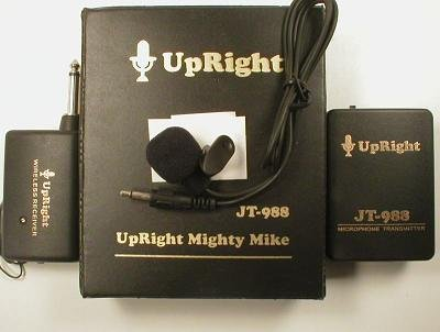 Upright Mighty Mike - Wireless Lapel Clip-On Microphone & Camcorder Set