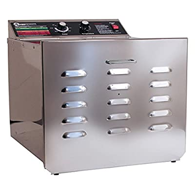"""TSM D-10 Stainless Steel Food Dehydrator with 1/4"""" Stainless Steel Shelves by TSM Products"""