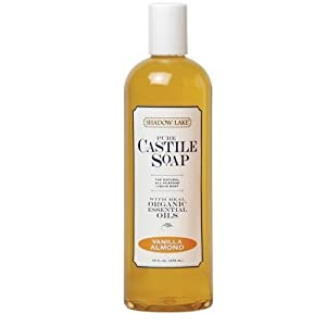 Shadow Lake Castile Soap Liquid, Vanilla Almond, 16-Ounce Bottles (Pack of 6) ( Value Bulk Multi-pack)