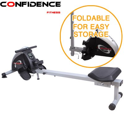 Great Features Of Confidence Fitness Folding Magnetic Resistance Rowing Machine