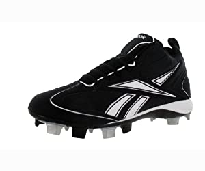 Reebok Mens Vero Iii Mid Msl-Nubuck Molded Cleats 13 Us Black|White 13 US