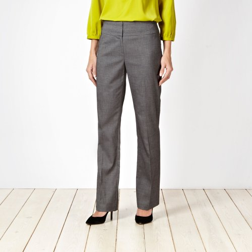 Petite Collection Petite Grey Fine Grid Suit Trousers