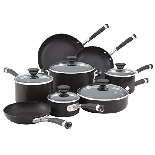 Circulon 83465 Acclaim 13-Piece Cookware Set, Black (13 Pc Cookware compare prices)