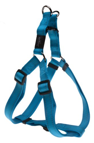 Rogz Utility Extra Large 1-Inch Reflective Lumberjack Adjustable Dog Step-in-Harness, Turquoise