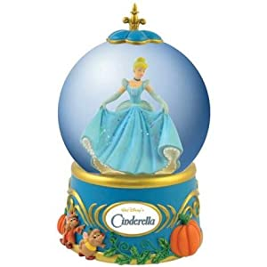 Life According to Disney Princesses Cinderella's Night Out Musical Water Globe by Westland Giftware