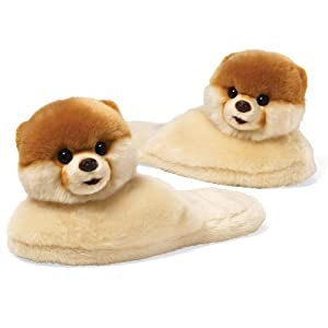 Amazon.com: Gund Boo The World's Cutest Dog Adult Sized Slippers 11