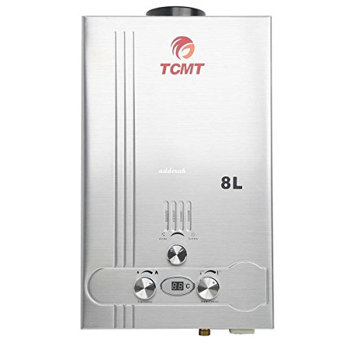 TC-Home 8L 2GPM Natural Gas Hot Water Heater Tankless Stainless Steel Instant Bolier (Instant Gas Hot Water Heater compare prices)