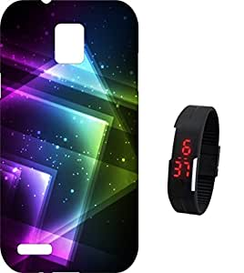 BKDT Marketing Printed back cover for Infocus M330 with Digital Watch