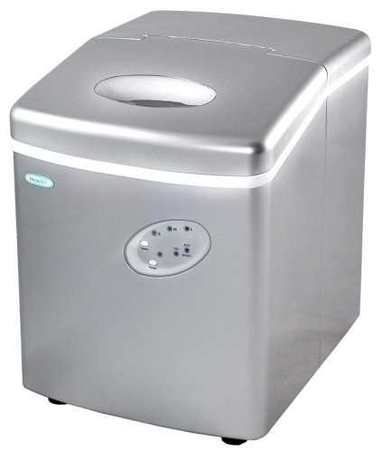NewAir AI-100S 28-Pound Portable Ice Maker, Silver