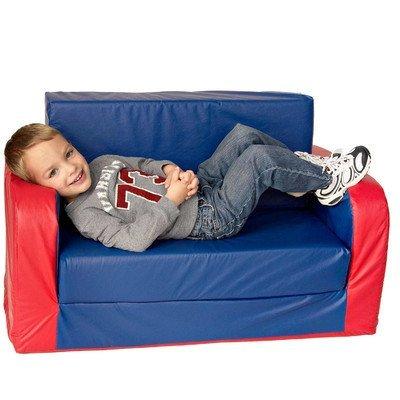 Foamnasium Juvenile Pullout Sofa, Blue/Red