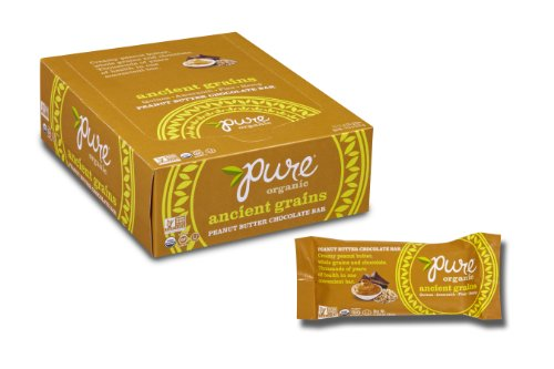 Pure Organic Ancient Grains Peanut Butter Chocolate Bars (1.23-Ounce, Pack of 12) (Gluten Free Peanut Butter Bars compare prices)