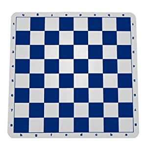 WE Games Ultimate Tournament Chess Board - Silicone with Blue Squares