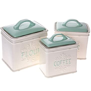 Stoneware Kitchen Canister Set