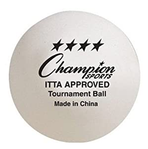 Buy 4-Star Tournament Table Tennis Balls - ITTA Approved Ping Pong Balls - Box of 6 Balls by Joe's USA
