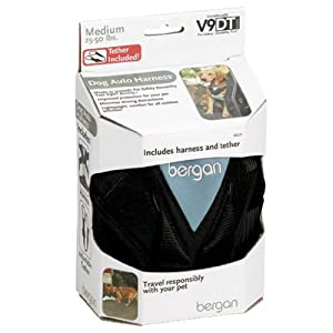 Bergan Dog Auto Harness with Tether, Medium