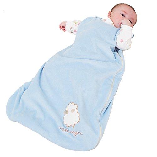Organic Baby Velour Sleeping bag (blue)