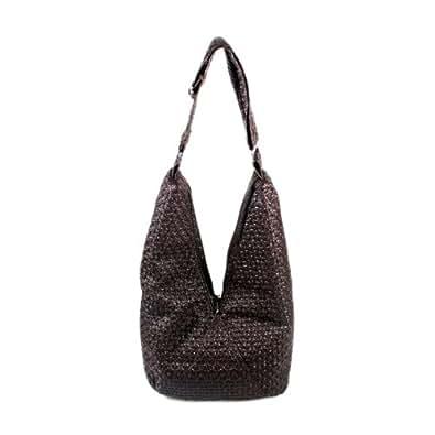 [Functional Demi]Black Satchel Hobo Handbag w/Shoulder Strap