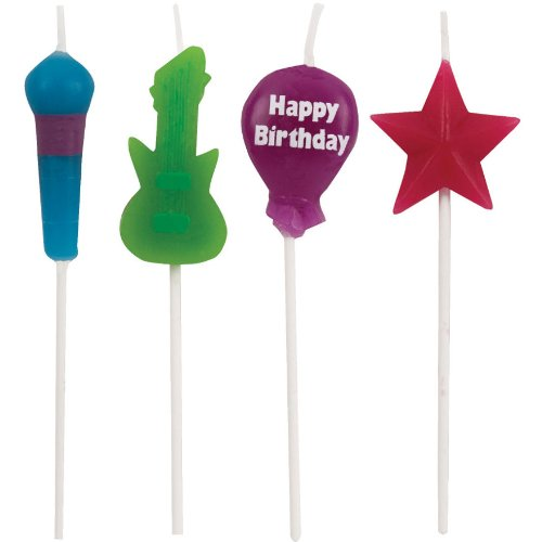 Rock Star Pick Candles (4ct) - 1