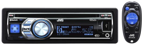 JVC KD-R800 30K Color Illumination Single DIN CD Receiver with Dual USB 2.0 for iPod/iPhone and Bluetooth