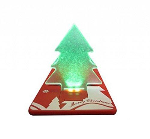 HITOP NEUHEIT Tragbares Pocket Mini LED Tannenbaum Visitenkarten Karte Card Taschen Licht Lampe Beleuchtung Karte Portemonnaie Zuneigung