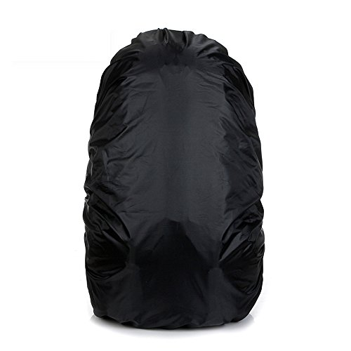 eBuy 35L Storage Backpack Rain Cover for Hiking Camping Traveling, Black