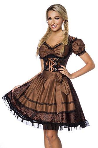 DIRNDLINE 3-tlg. Mini-Dirndl Trachtenkleid aus Jacquard (Kleid, Schürze & Bluse) in 5 Varianten A70000 thumbnail