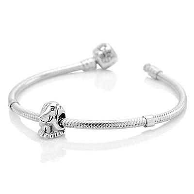 925 Sterling Silver Dachshund Dog Bead Charm Fits Pandora Bracelet