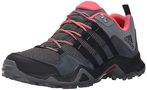 adidas Outdoor Women's Brushwood Mesh Hiking Shoe, Dark Grey/Black/Super Blush, 7 M US