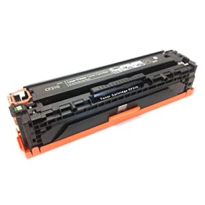 Amsahr CF210X Remanufactured Replacement Toner Cartridge for HP CF210X, CF211A One Black Color