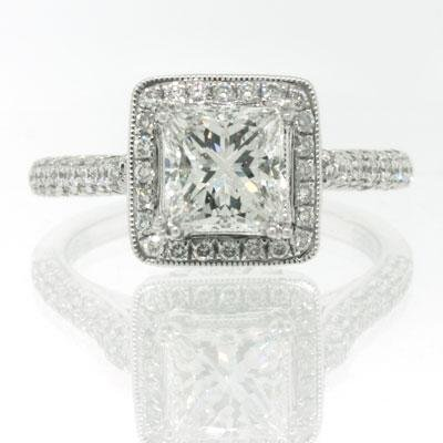2.05ct Princess Cut Diamond Engagement Anniversary