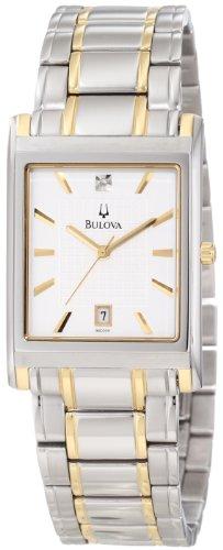 Sale Bulova Men's 98D005 Diamond Dial Calendar Watch