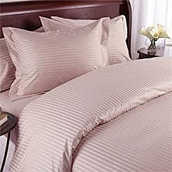 Classic Hotel Quality 1PC Duvet Cover 300 Thread Count Single 100% Egyptian Cotton Pink Stripe by HotHaat