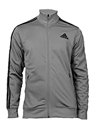 adidas Men\'s Post Game Track Jacket Grey/Black Outerwear SM