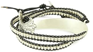 M.Cohen Handmade Designs Triple Layer Leather with Sterling Silver Layer