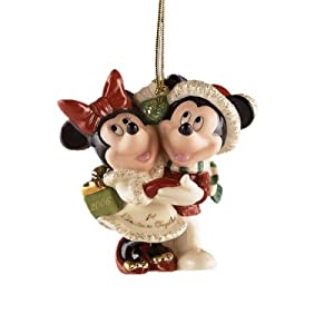 #!Cheap Lenox 2006 Mickey and Minnie's First Christmas Together Ornament