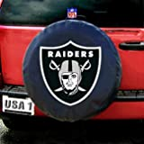 41HNCFQ8G5L. SL160  Oakland Raiders Spare Tire Cover