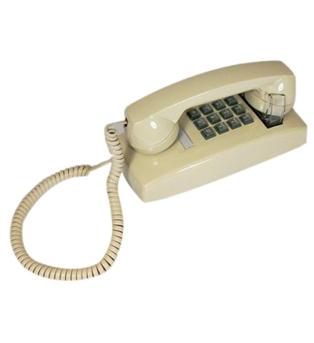 Cortelco 255409-Vba-20M Wall Phone With Volume Ivory