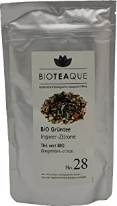 Bioteaque Bio Grüntee No.28  Ingwer-Zitrone, 1er Pack (1 x 90 g)