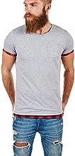 Dilaw Longliner Basic T-Shirt Longshirt Karo Oversize Trend O-Neck