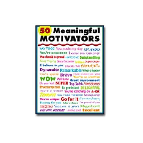 Amazon.com: 50 Meaningful Motivators Poster by Carson Dellosa