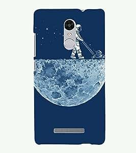 PRINTSOPPII MOON Back Case Cover for Xiaomi Redmi Note 3::Redmi Note 3