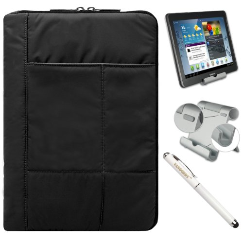 Travel Soft Anti Scratch Carrying Sleeve For Dell Venue 11 Pro Tablet (11-Inch Touch Screen) + Foldable Stand + Stylus Pen