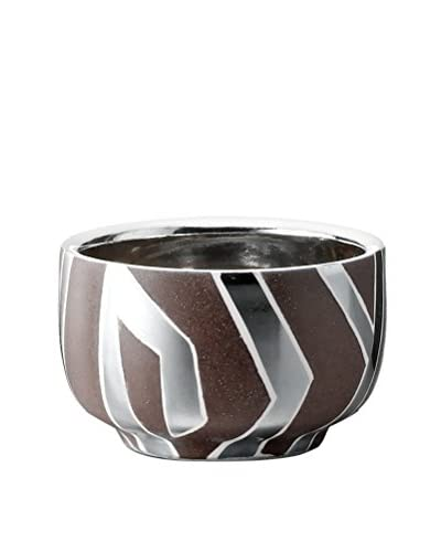 Waylande Gregory Zebra XS Chubby Bowl, Brown/Platinum