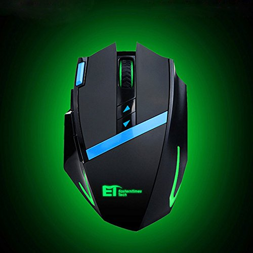 ET X-09 2400DPI 2.4GHz Green LED Wireless Optical Ultimate Gaming Game Mice Mouse