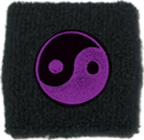Licenses Products Yin Yang Wrist Band, Purple - 1