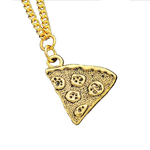 MJartoria Antique Gold Color Pizza Slice Friendship Necklace 1
